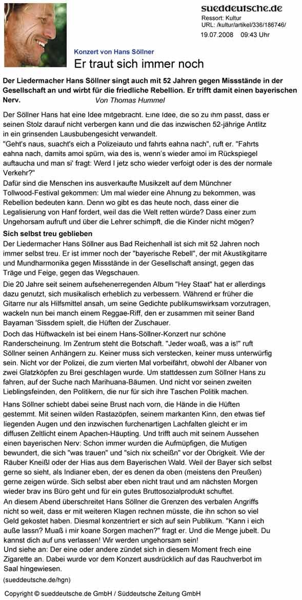 Tollwood 2008 Süddeutsche Zeitung