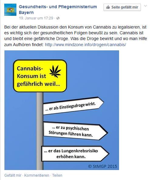 Cannabis Konsum ist gefährlich weil...