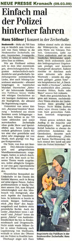 Hans Söllner Konzertkritik Kronach