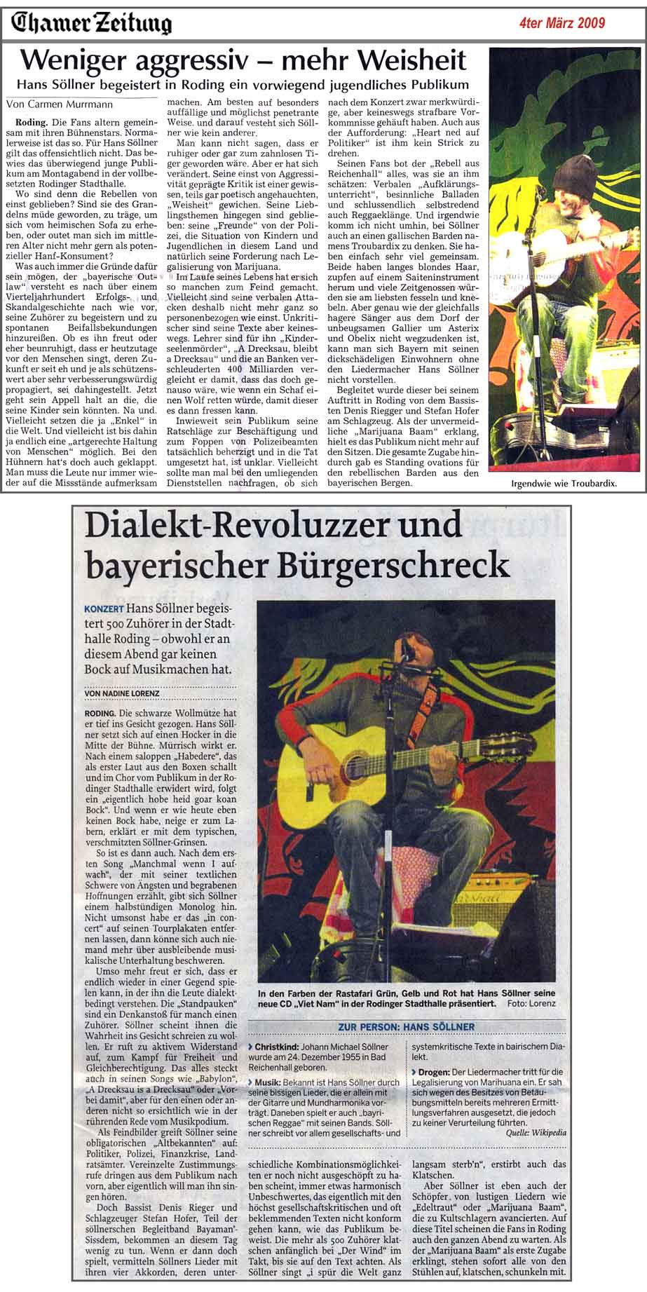 Hans Söllner Konzertbericht Roding