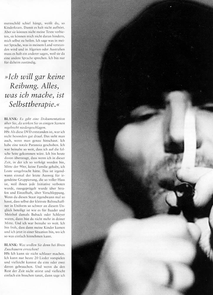 Hans Söllner Bericht in Blank3