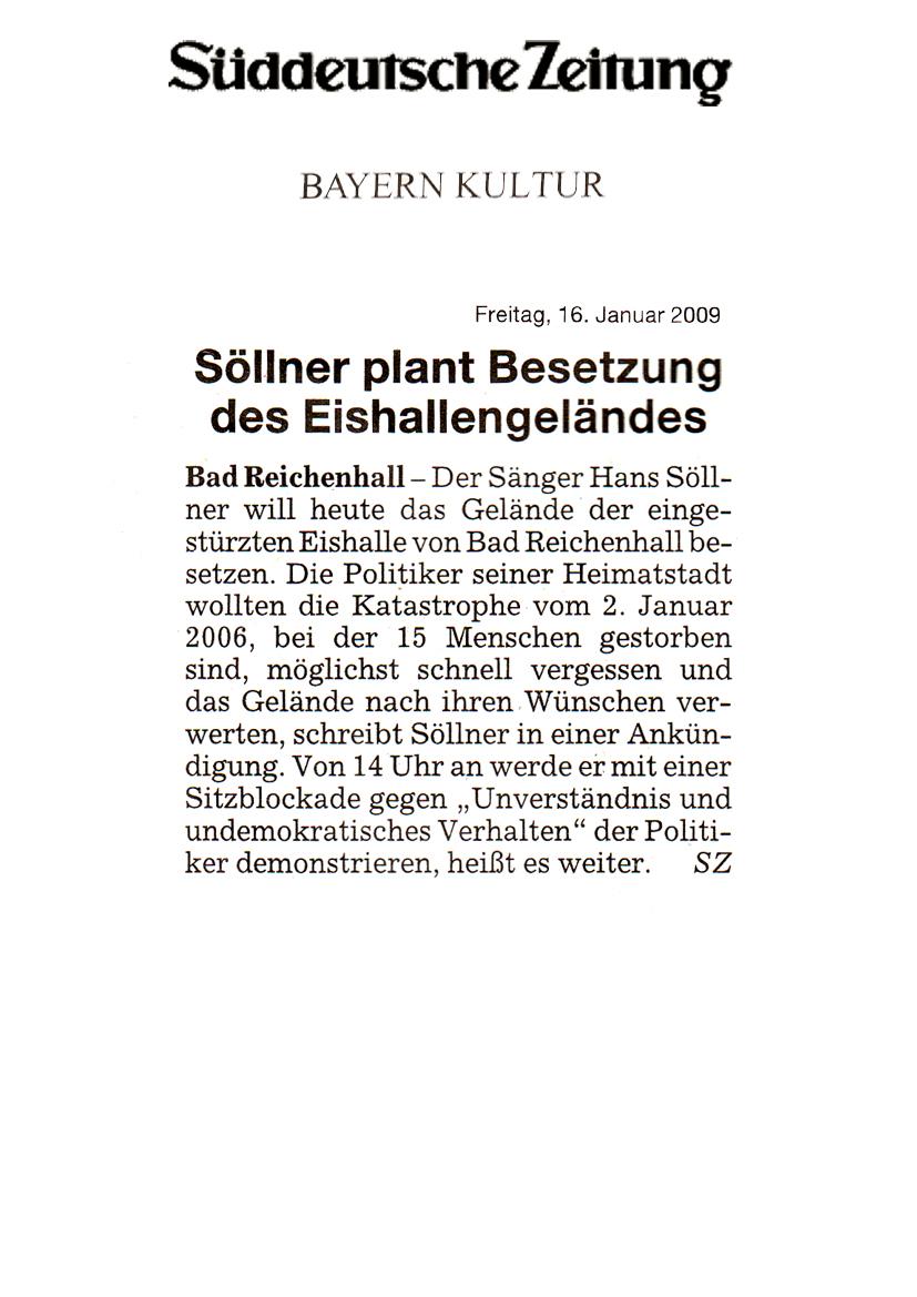 Hans Söllner ProtestAction Süddeutsche Zeitung